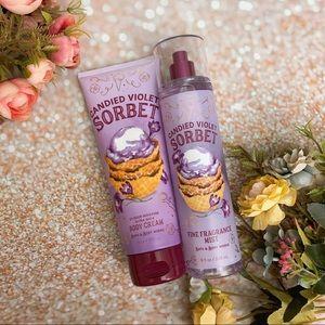 Bath and body works bbw candie violet sorbet set